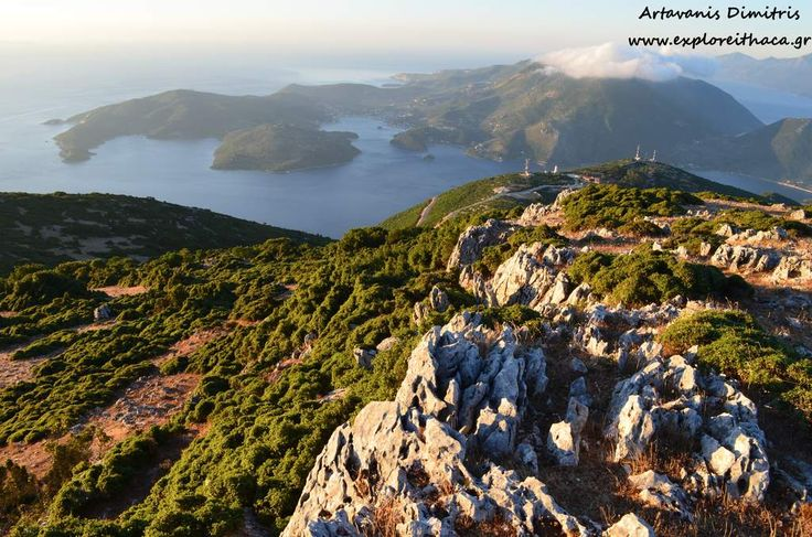 Route: Sunrise from Nirito Mountain - Hiking along the ridge - Descent through Paxinata of Anoghi | Explore Ithaca island, Ionian Sea, Greece. - Selected by www.oiamansion.com