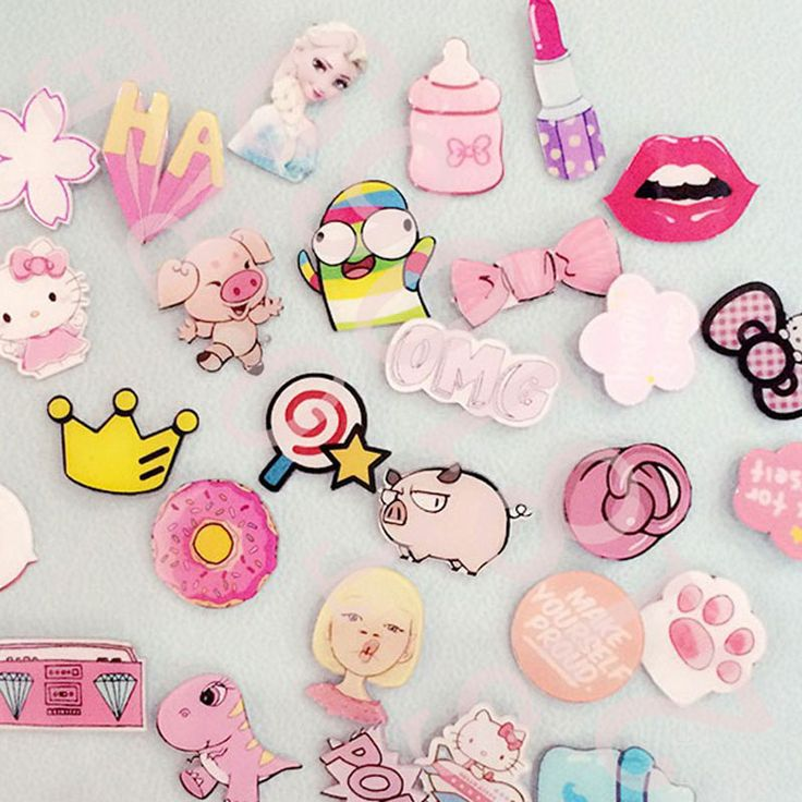 1 UNIDS Rosa Series No. 2 Icono Envío Gratis Kawaii Acrílico Insignia Mochila Decoración Pin Insignias de Dibujos Animados Iconos Pins