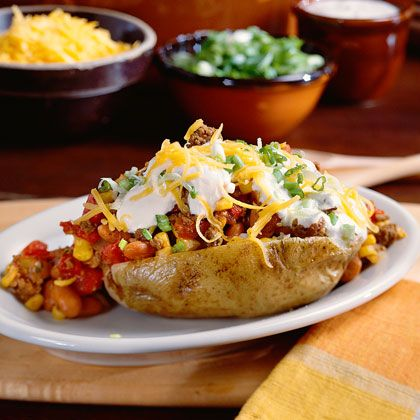 Chili topped potatoes...point value depends on size of potato