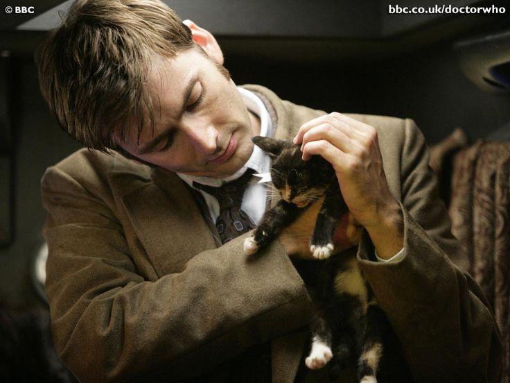 David Tennat and a cat! How adorable!