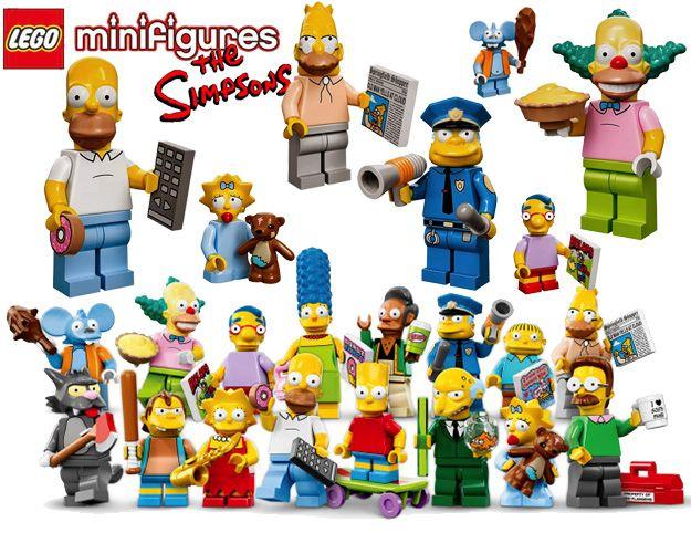 Os Simpsons na Décima Terceira Série de Mini-Figuras LEGO Blind Box