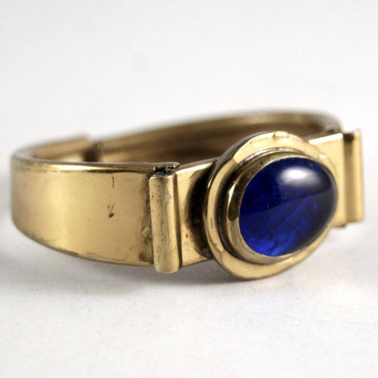 Rafael Canada Clamper Bracelet - Blue Glass