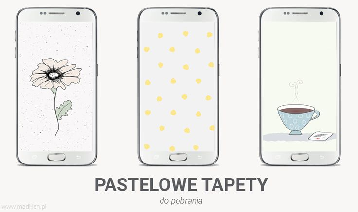 Pastelowe tapety na telefon, wallpaper, for download, vector graphics