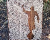 Made to Order LDS Reverse String Art Angel Moroni 11.25x14
