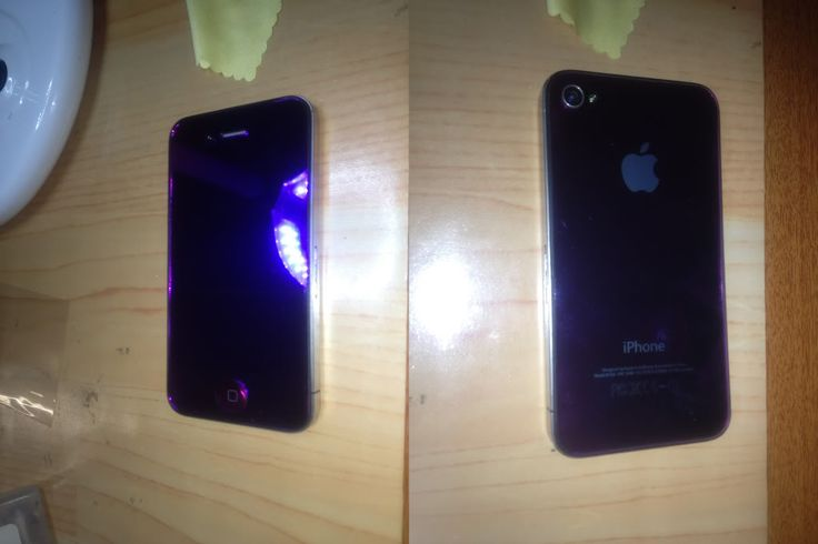 iPhone 4 Metallic Purple front glass and LCD assembly including matching back and home button - $100 Fitted - http://pnetworks.com.au