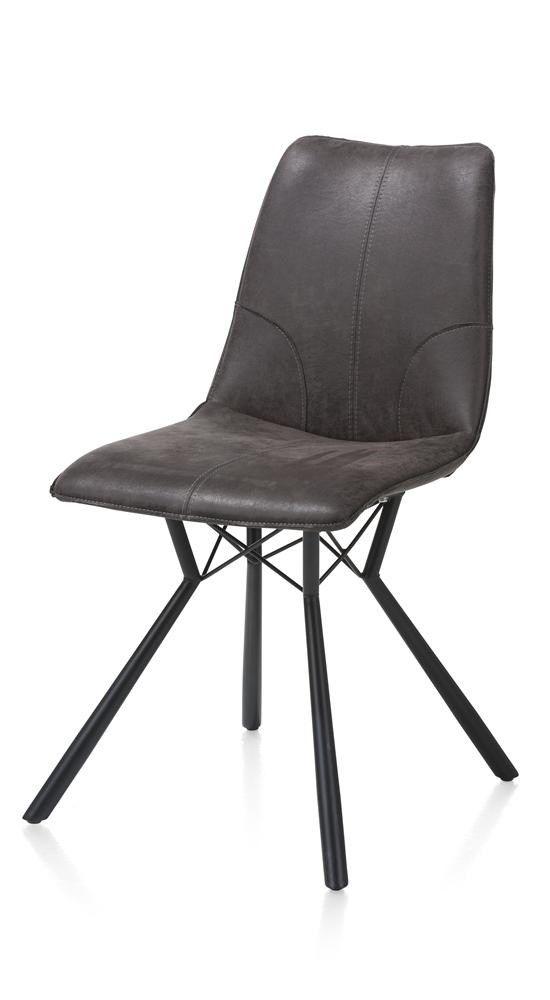 Xooon: Noah, eetkamerstoel - zwart frame + microleder Corsica € 199,- | Productgroep: Eetkamerstoelen | Afmetingen: Breedte: 50 cm Diepte: 62 cm Hoogte zitting: 50 cm Hoogte: 89 cm