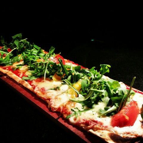 Four cheese tomato pizza