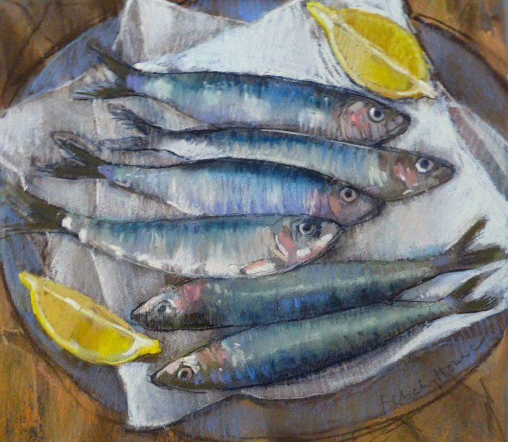Six Sardines for Supper   pastel  Felicity House