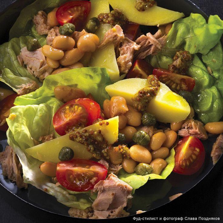 Салат с тунцом и белой фасолью - Пошаговые рецепты, фото, видео на сайте Bonduelle.ru