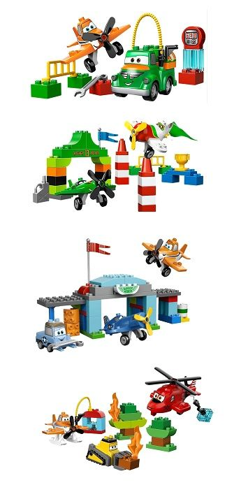 The fabulous and fun Lego Duplo Disney Planes sets include sets called Dusty and Chug, Ripslinger's Air Race, Skipper's Flight School and, from the latest movie, Fire and Rescue Team. #duplo #disney #planes