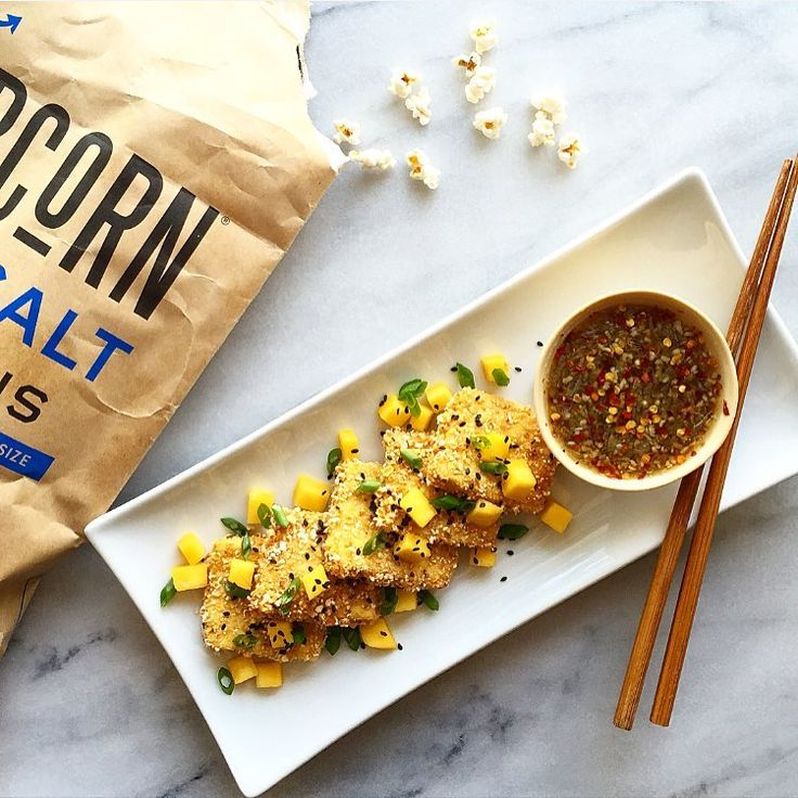 Coconut Popcorn Tofu with a sweet and spicy dipping sauce Full ...