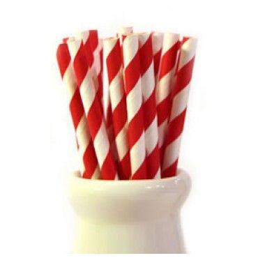 Paper Straws Red Stripe - Party Shop :: Big Dreams