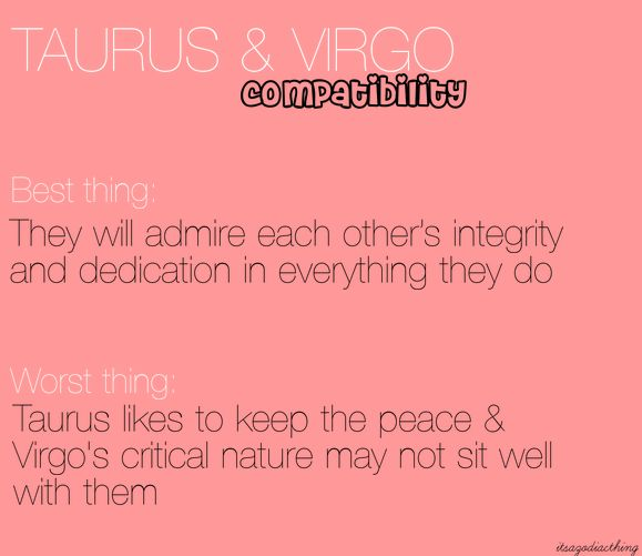 tauruses and virgos dating