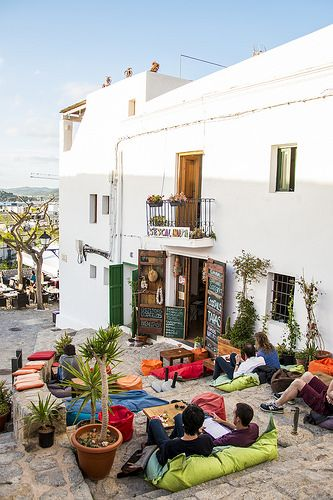 One of my favourite spots in the world - S'Escalinata, Ibiza bar café - White Ibiza. Photography by Sofia Gomez Fonzo
