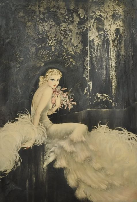 """Louis Icart, """"Orchids"""", 1937"""