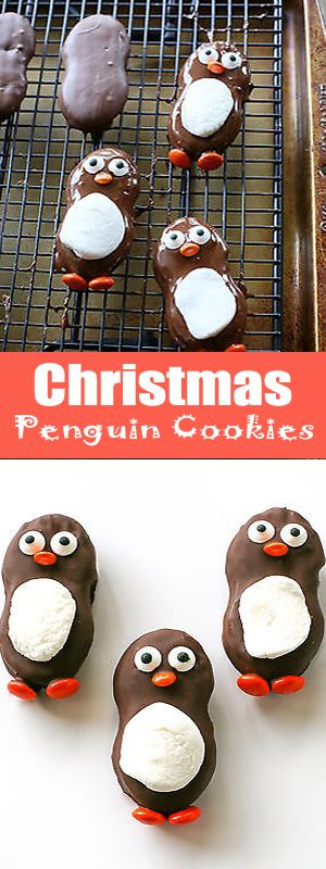 These are cute little penguin cookies. These Christmas Penguin Cookies are adorable and you will fun to make.