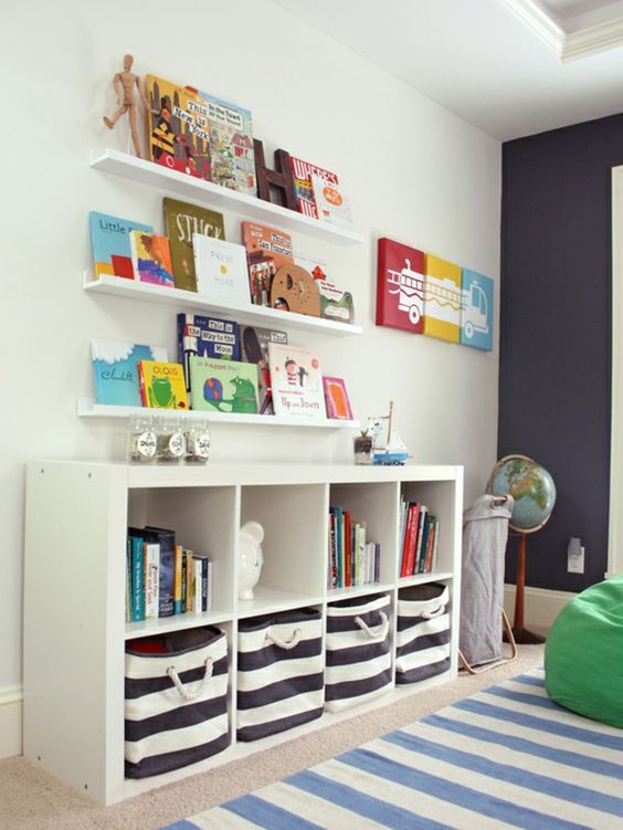 Stauraum Ideen Kinderzimmer Aufbewahrungskörbe