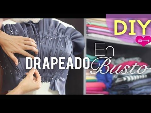Как сделать ДРАПИРОВКУ по ТАЛИИ на ПЛАТЬЕ⚡️draping on the dress⚡️Drapieren auf dem Kleid - YouTube