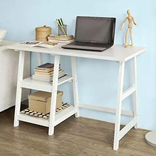 SoBuy® Schreibtisch, Tisch, Computertisch, Kinderschreibtisch, Bürotisch,  FWT16 W