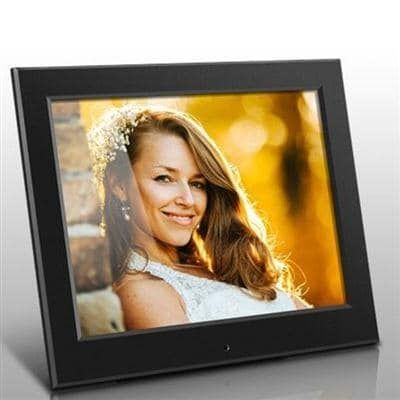 Aluratek - 8 Slim Digital Photo Frame With Auto Slideshow 1024 X 768 Hi-Res