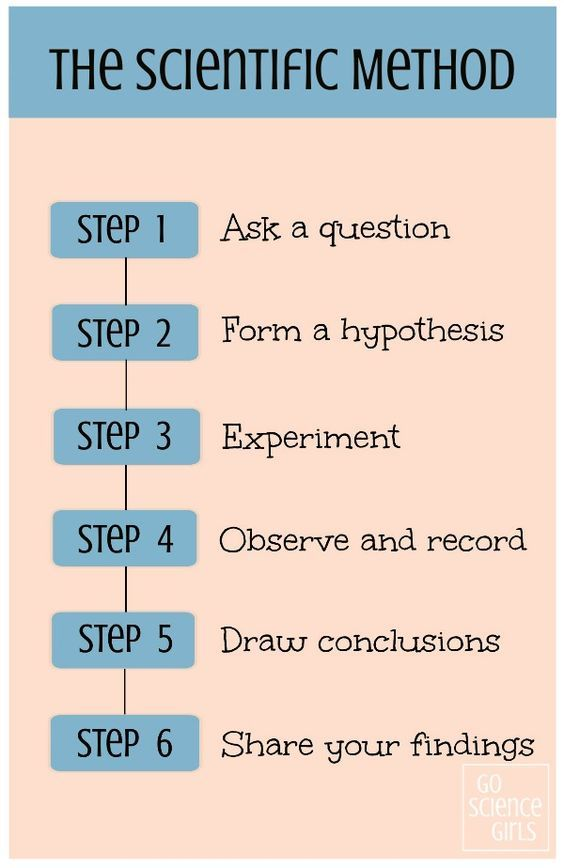 The 6 steps of the scientific method