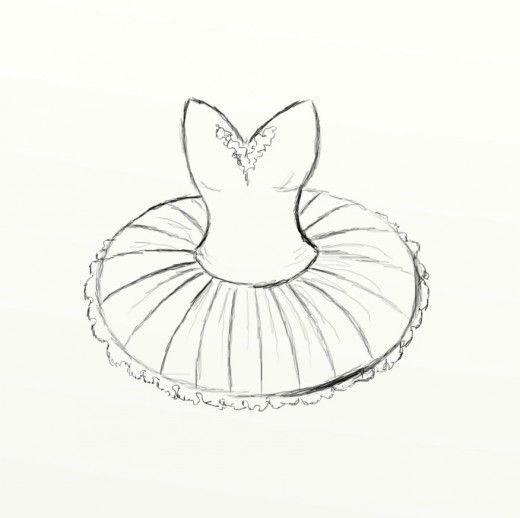 how to draw a tutu in 2018 watercolor pinterest basic drawing