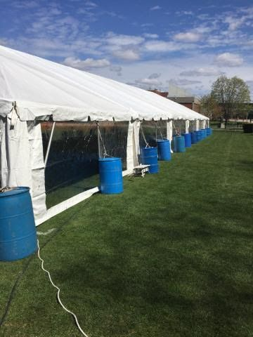 Tent at Providence College showing our clear sides