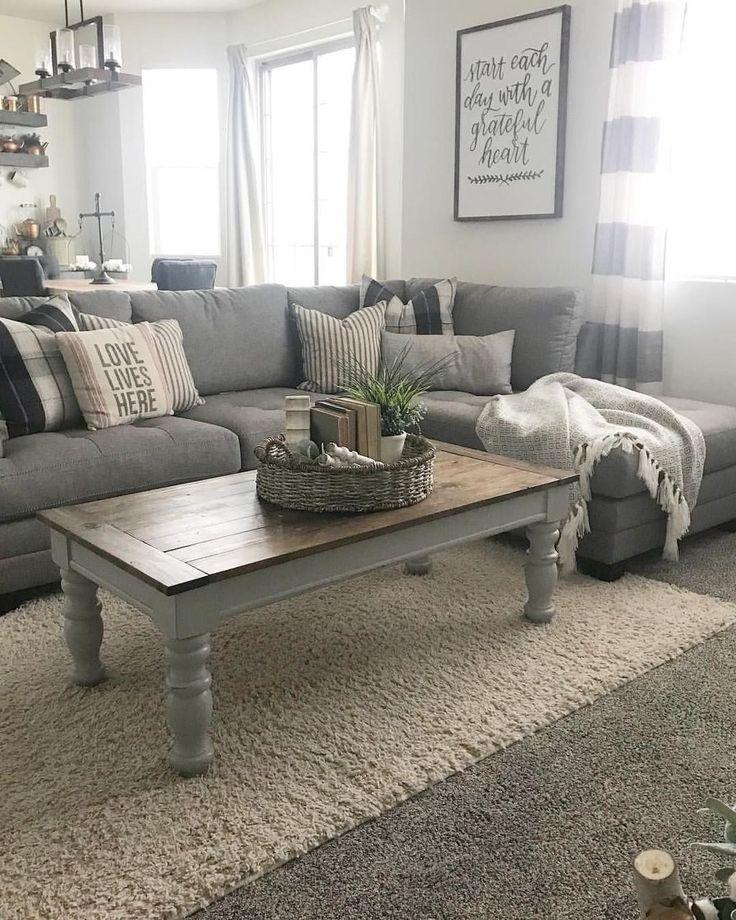 20+ Comfy Farmhouse Living Room Decor Ideas