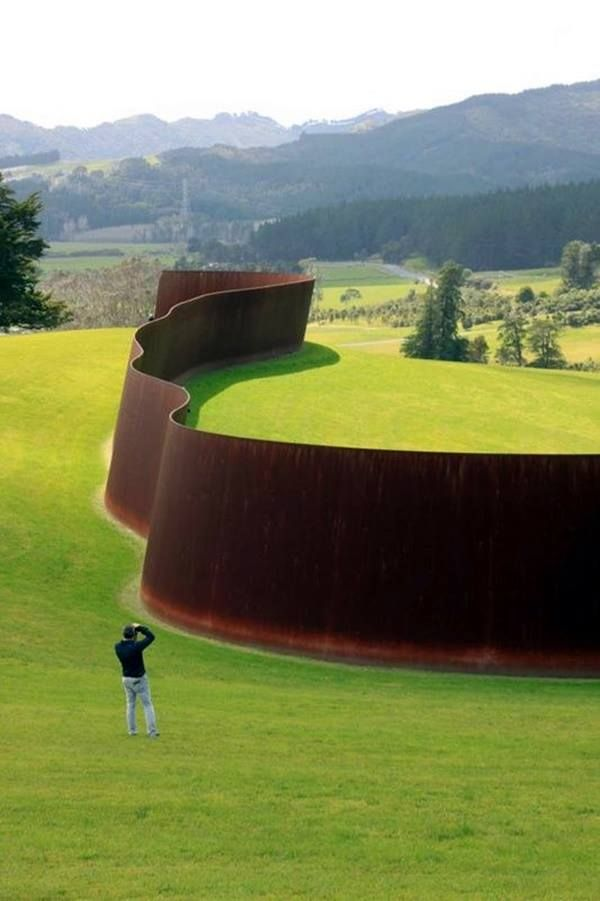 """Te Tuhirangi Contour"" at the Gibbs Farm Sculpture Park"