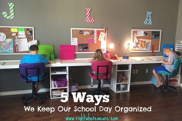 It is easy to get off track when home schooling your family.  Here are our top 5 ways for keeping our day organized.