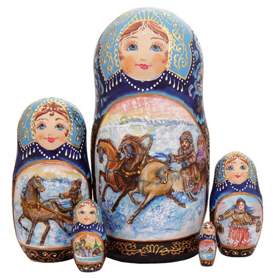 Russian matrioshka Troika watercolors http://www.artshop-rus.com/products/russkie-suveniry/matrjoshka