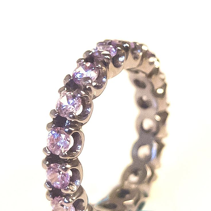 Silver Cataforesi and Lilac Cataforesi Ring (closeup) $265.00- Margaux Wenger Bijoux