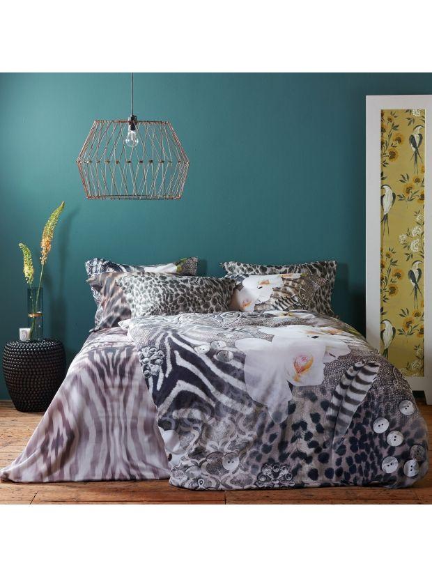 Collage  Zebra? Panter? Jachtluipaard? of toch een vogel?  Welke dieren herken jij in dit mooie katoensatijnen Dekbedovertrek?