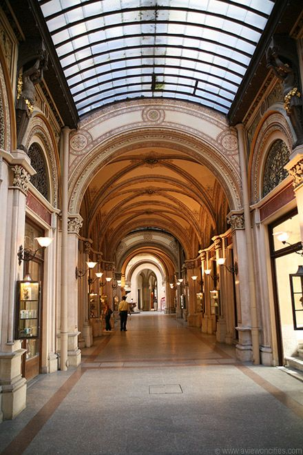 The Freyung Passage is a beautiful historic arcade linking the Freyung square with Herrengasse. It was built in 1860 as part of the Ferstel Palace and is home to a number of luxury stores. http://www.aviewoncities.com/vienna/freyungpassage.htm