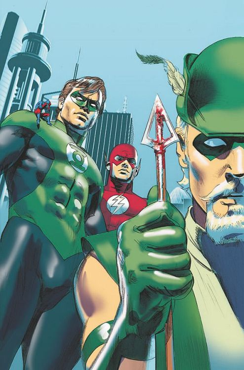 Green Lantern & Justice League by Mike Mayhew