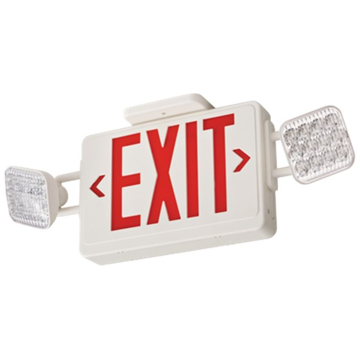 Lithonia Lighting Contractor Select Thermo LED Emergency Exit Sign and Light