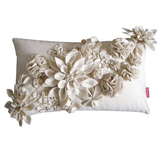 Beautiful ♥ gorgeous floral felt pillow cushion