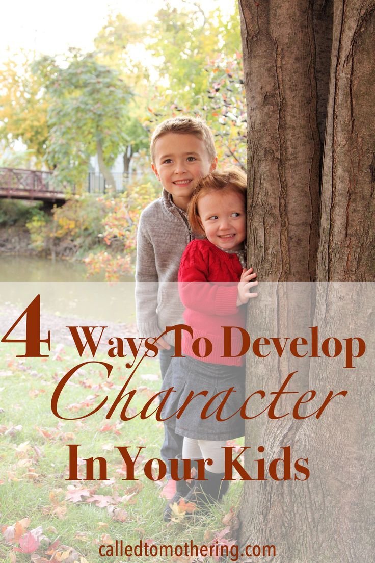 Here are four ways you can develop biblical character in your children and help them put it into action!