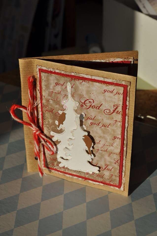 Julekort av papirpose.