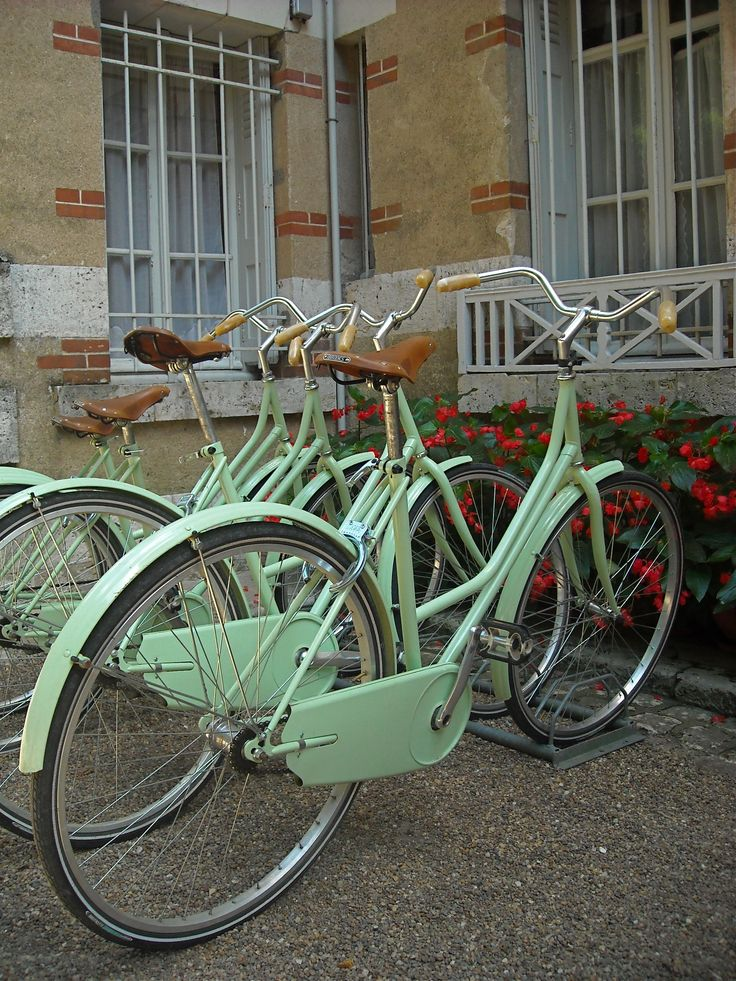 bikes in the loire valley, france. The best bike ride I have ever had :)