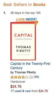 The number-one book on Amazon.com isn't a guide to green juice or an erotic romance novel. No, the top seller on Amazon right now is a 700-page book, translated from French, about rising inequality and the state of modern capitalism.