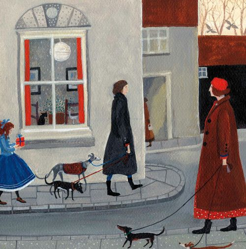 'On The Way' By Artist Dee Nickerson. Blank Art Cards By Green Pebble.