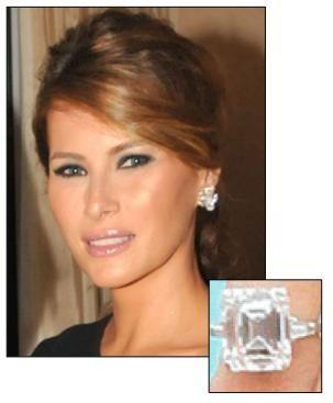 Melania Trump Engagement Ring Photos 8
