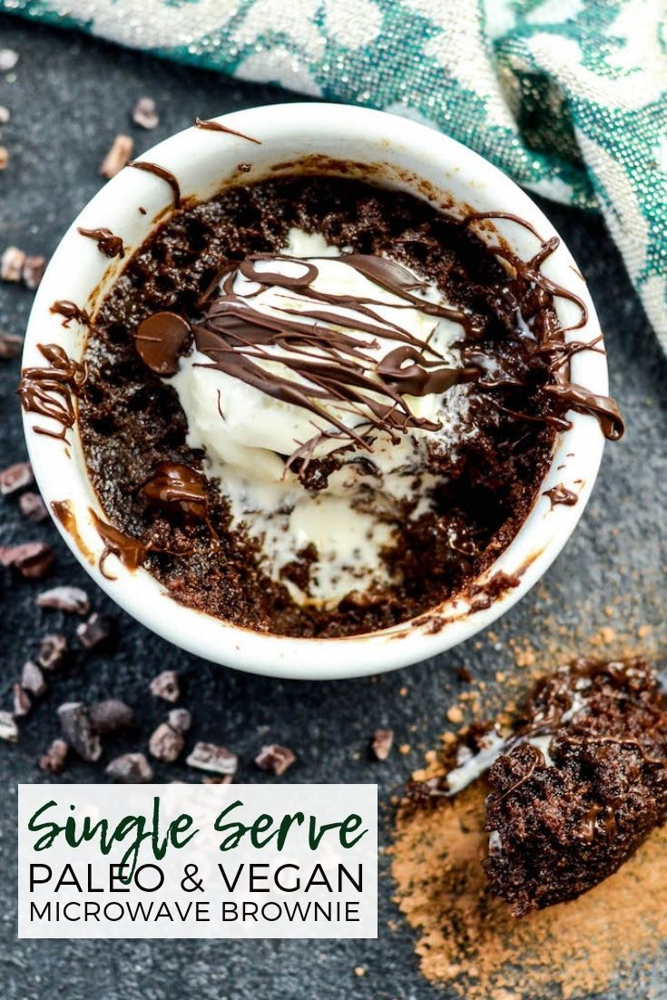 This Single Serve Paleo Microwave Brownie Recipe Is Ready In Under