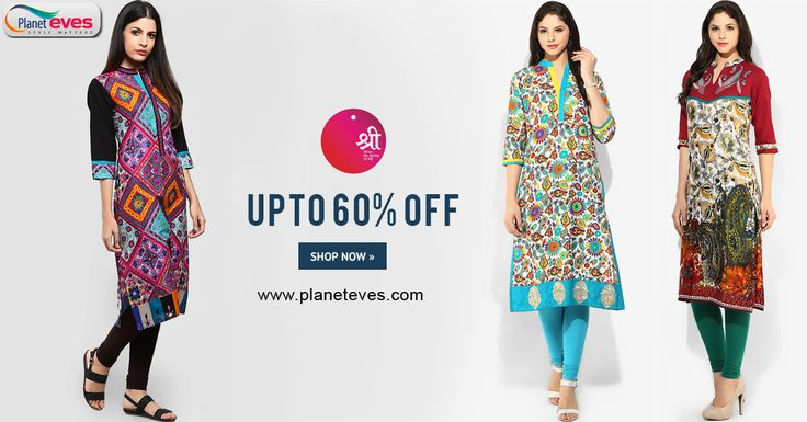 Upto 60% OFF !! #Women's #Kurta & #Kurtis Online in India from all major Brands, Size & Colours on Planeteves.com. Register & Get Rs.200/- Gift Coupons with Limited Time Offers.