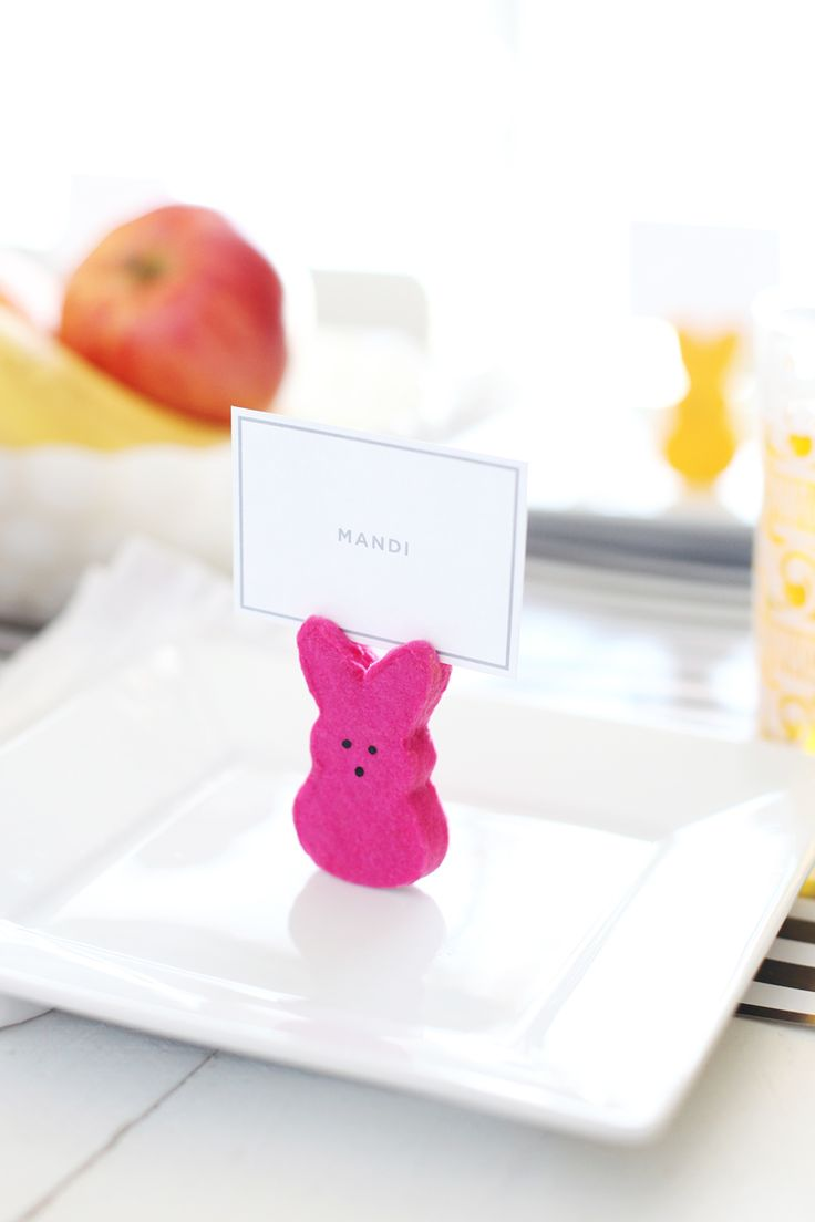 Easter Place Cards | #DIY Easter Table Decor from @Elsie Larson of A Beautiful Mess