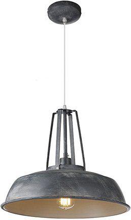 Industriële hanglamp 45cm diameter zwart, wit, betonlook