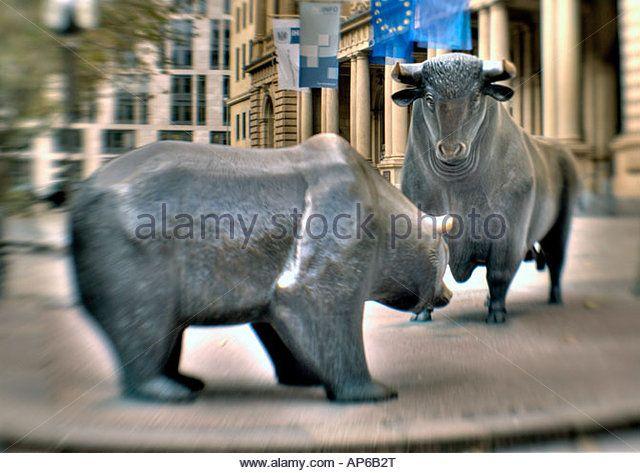 stock exchange Frankfurt - Stock Image