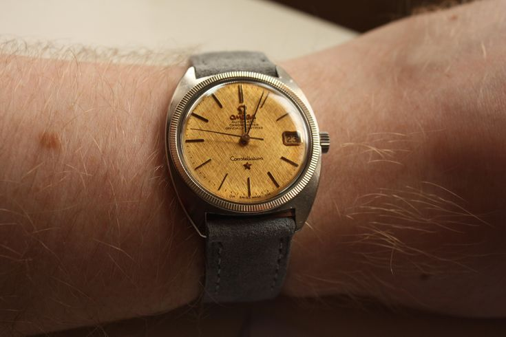 [Omega] New strap day for the 66 Constellation via /r/Watches