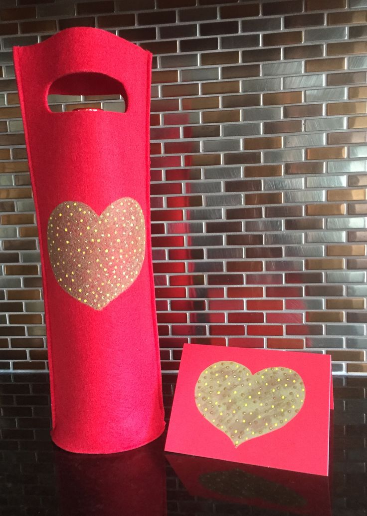 """""""Big Hearted"""" Hand Painted Wine Bag & Greeting Card by Melody Germain of My """"Escape"""" Art"""